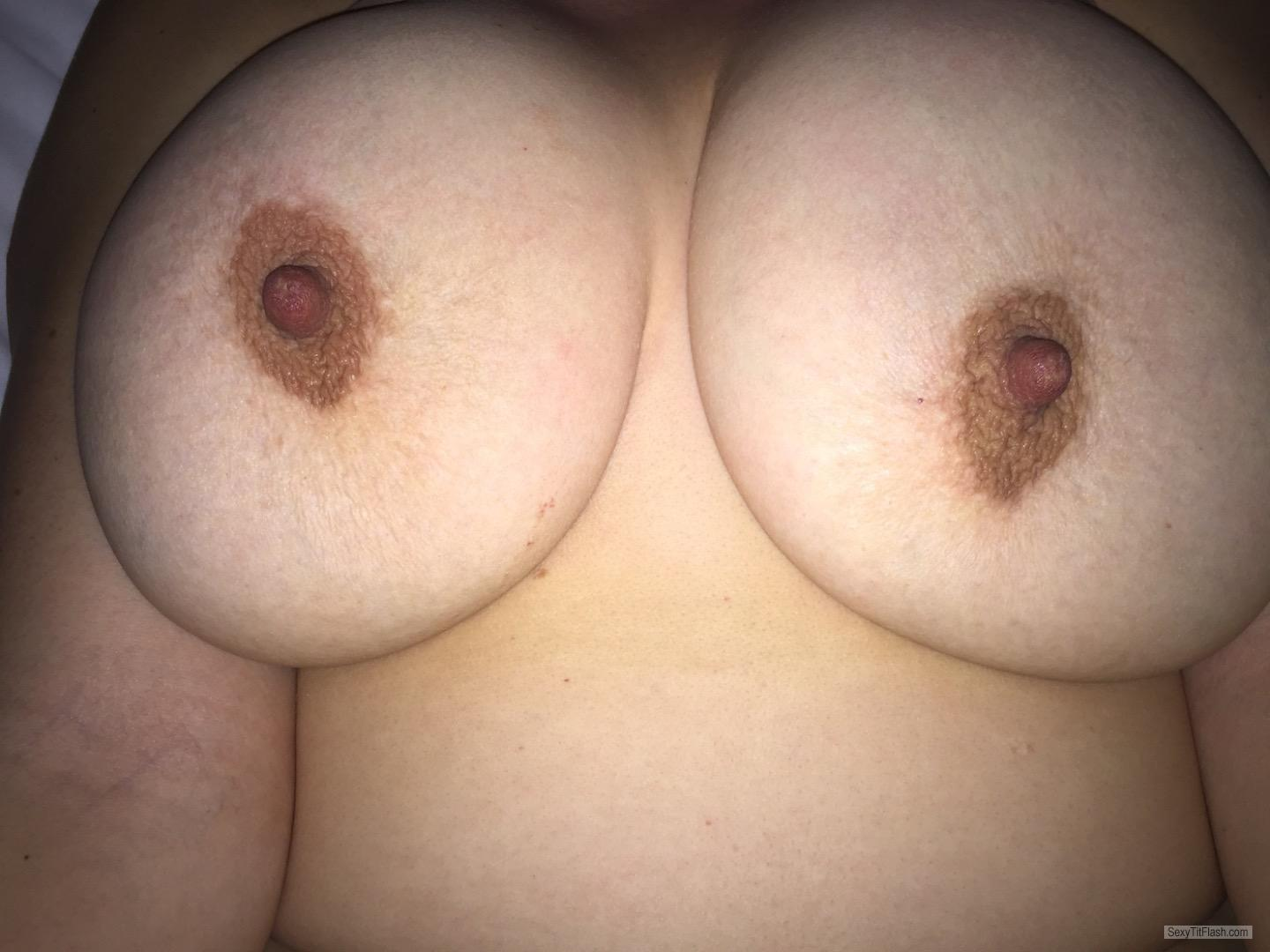 Tit Flash: Wife's Very Big Tits - JJ's Fun Bags from United States