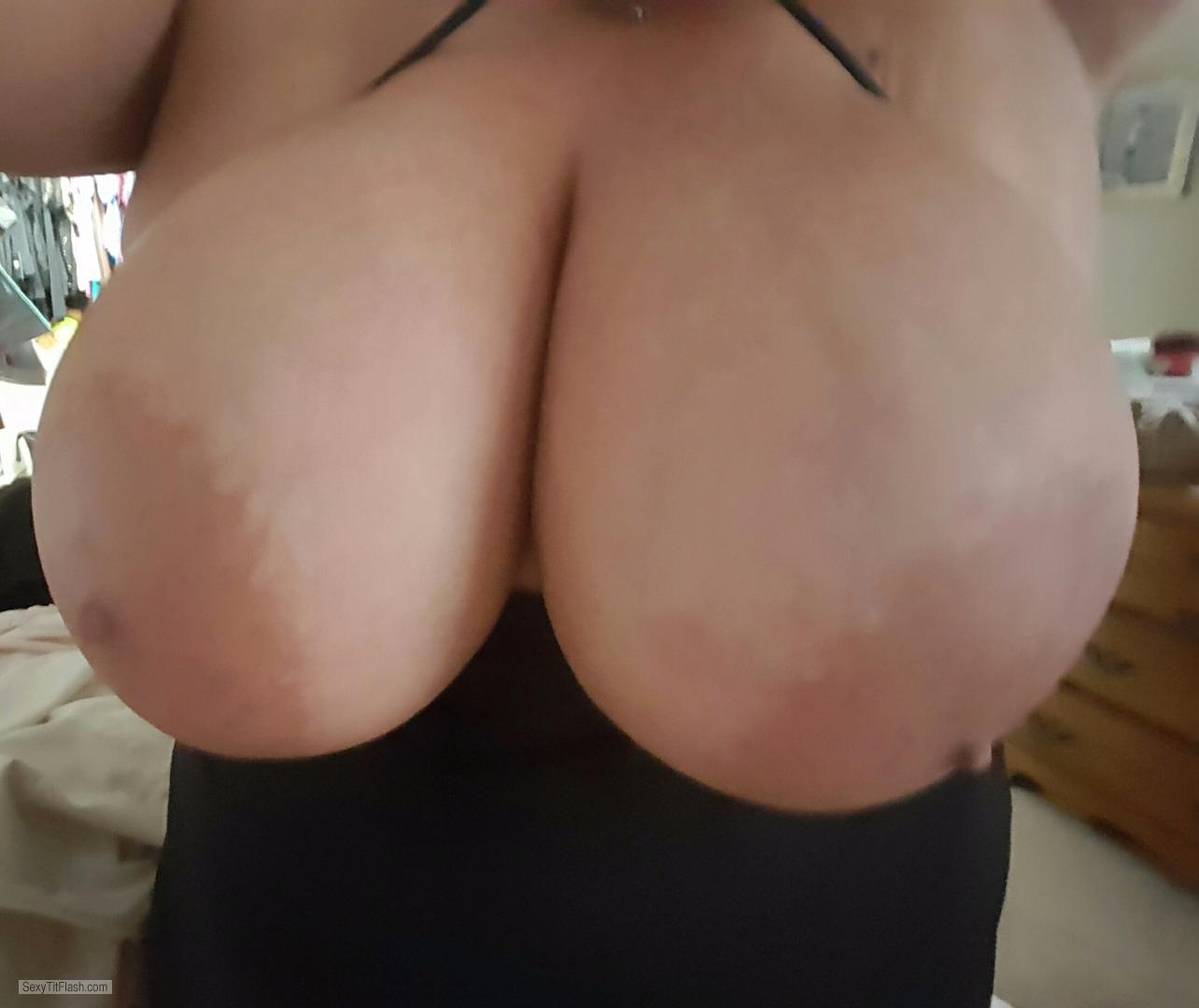 Tit Flash: My Very Big Tits - Nipplelicious from United States