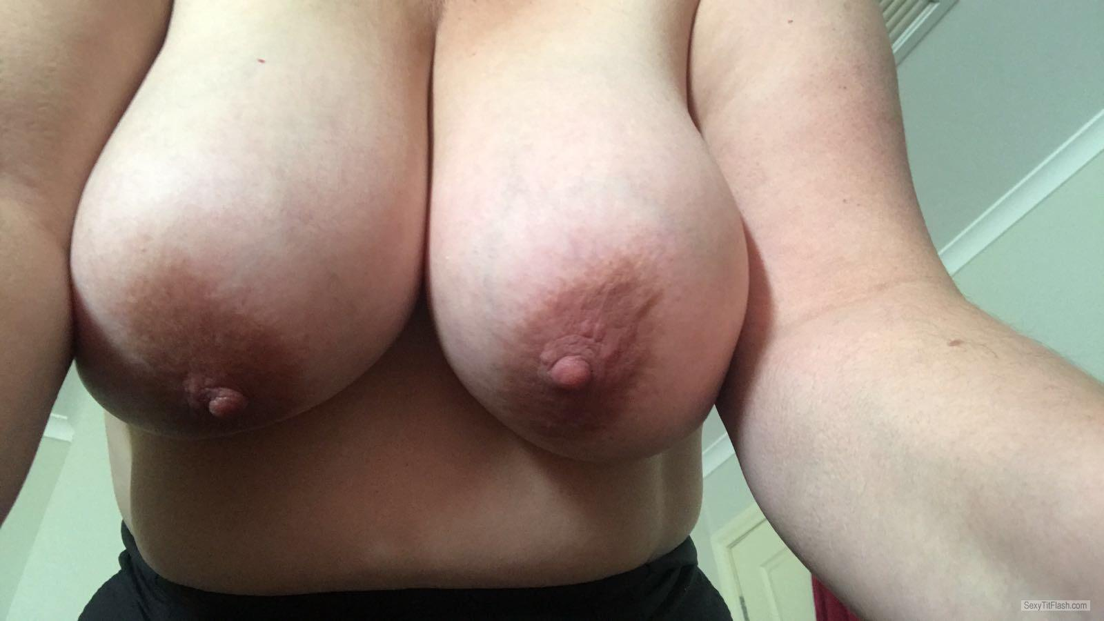 Very big Tits Of My Room Mate Selfie by Aussie Jenny