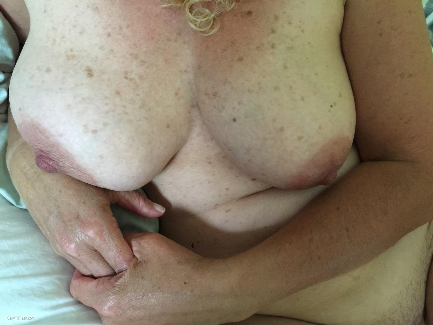 Tit Flash: My Very Big Tits - Topless CanDD from United Kingdom