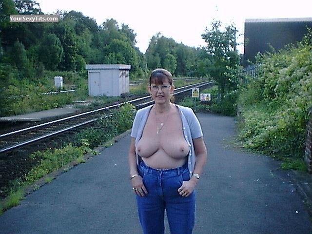 Tit Flash: Very Big Tits - Topless Widge from United Kingdom