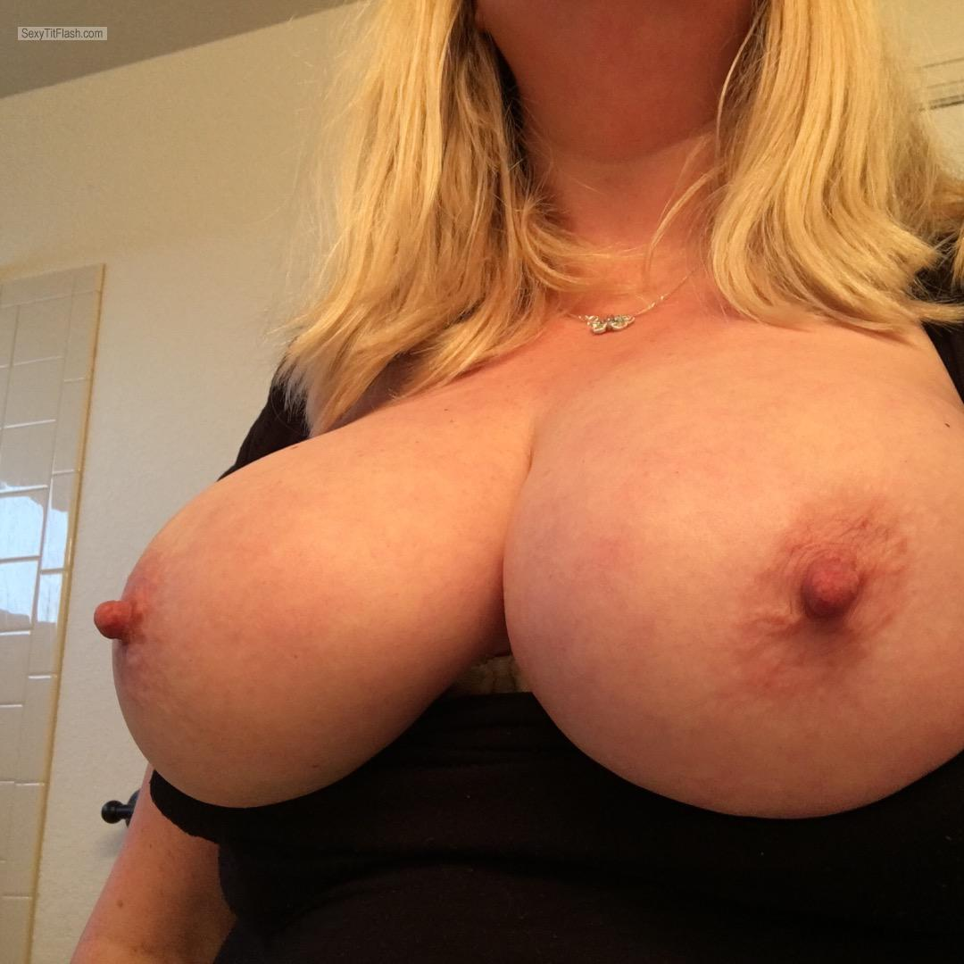 My Very big Tits Selfie by Hard Nips
