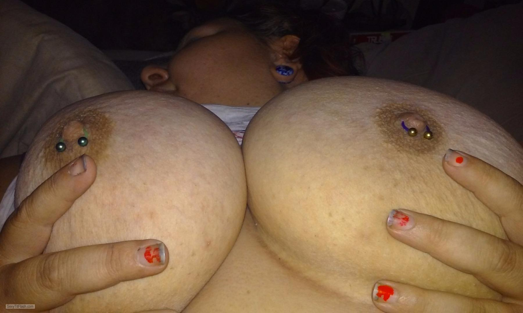 My Very big Tits Piercednchubby