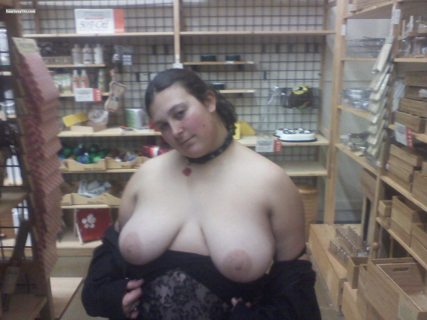 Tit Flash: Very Big Tits - Topless Kitty from United States