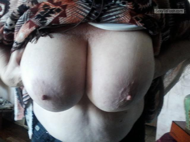 Tit Flash: My Very Big Tits (Selfie) - Big Tit Deb from United States