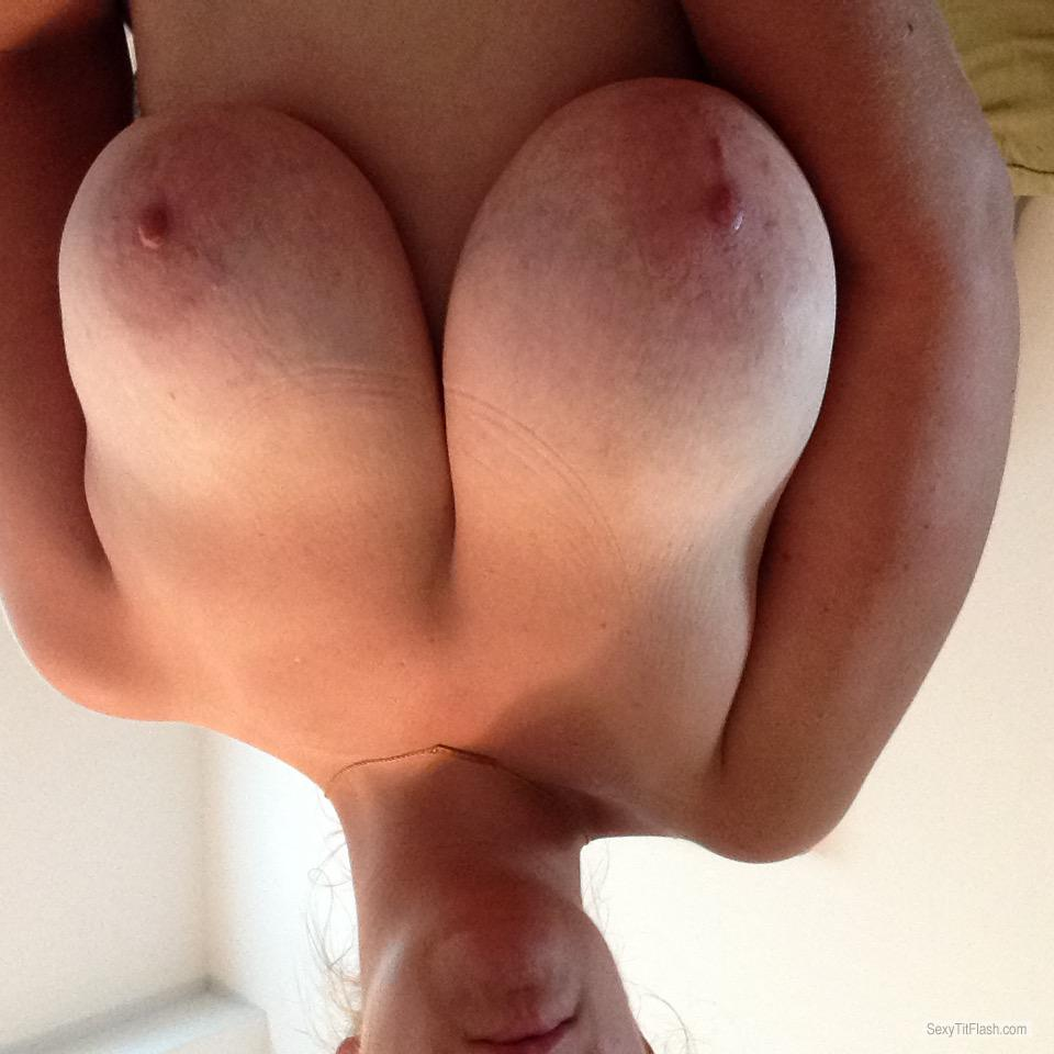 Tit Flash: My Very Big Tits (Selfie) - Topless IslandBunny from United States