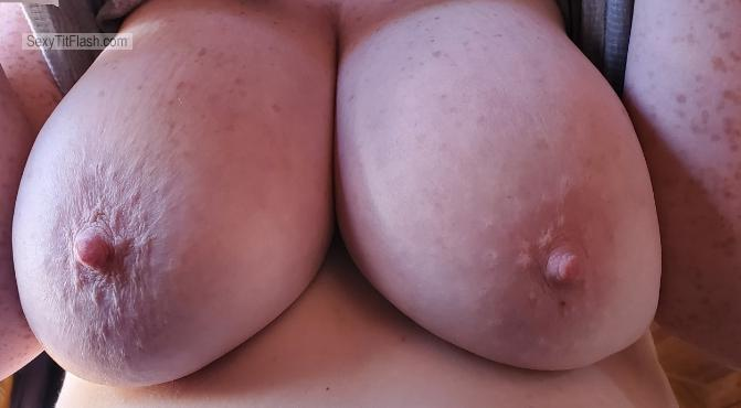 Tit Flash: Wife's Very Big Tits - Nad from Canada