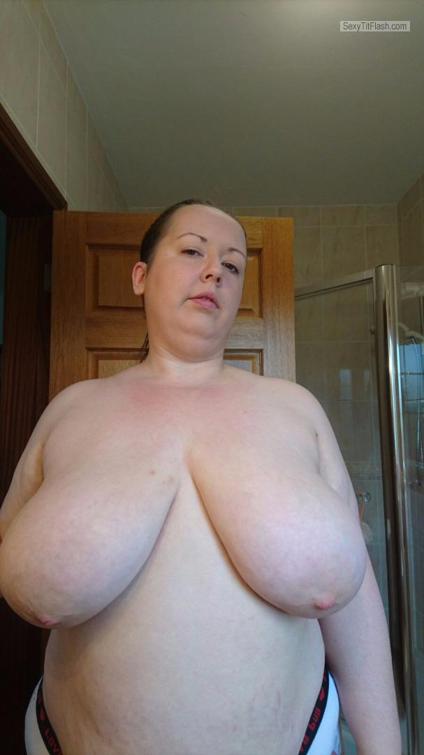 Tit Flash: My Very Big Tits - Topless Carol from United Kingdom