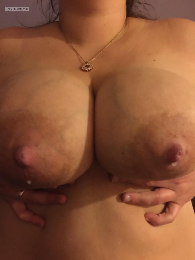 Tit Flash: Girlfriend's Very Big Tits - Ally Lea from United States