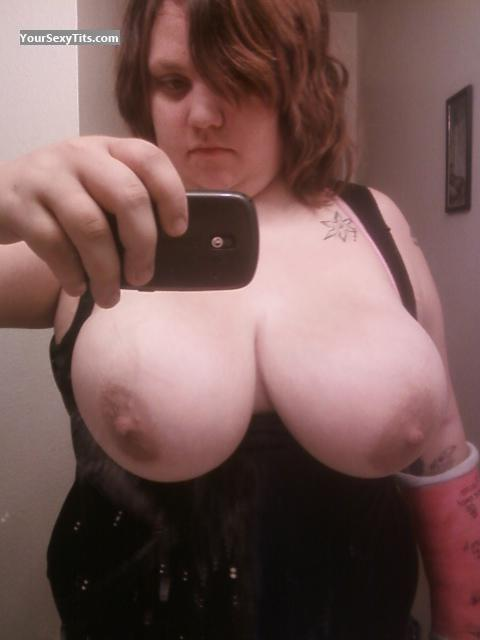 Tit Flash: My Very Big Tits (Selfie) - Topless Ninjaspy from United States