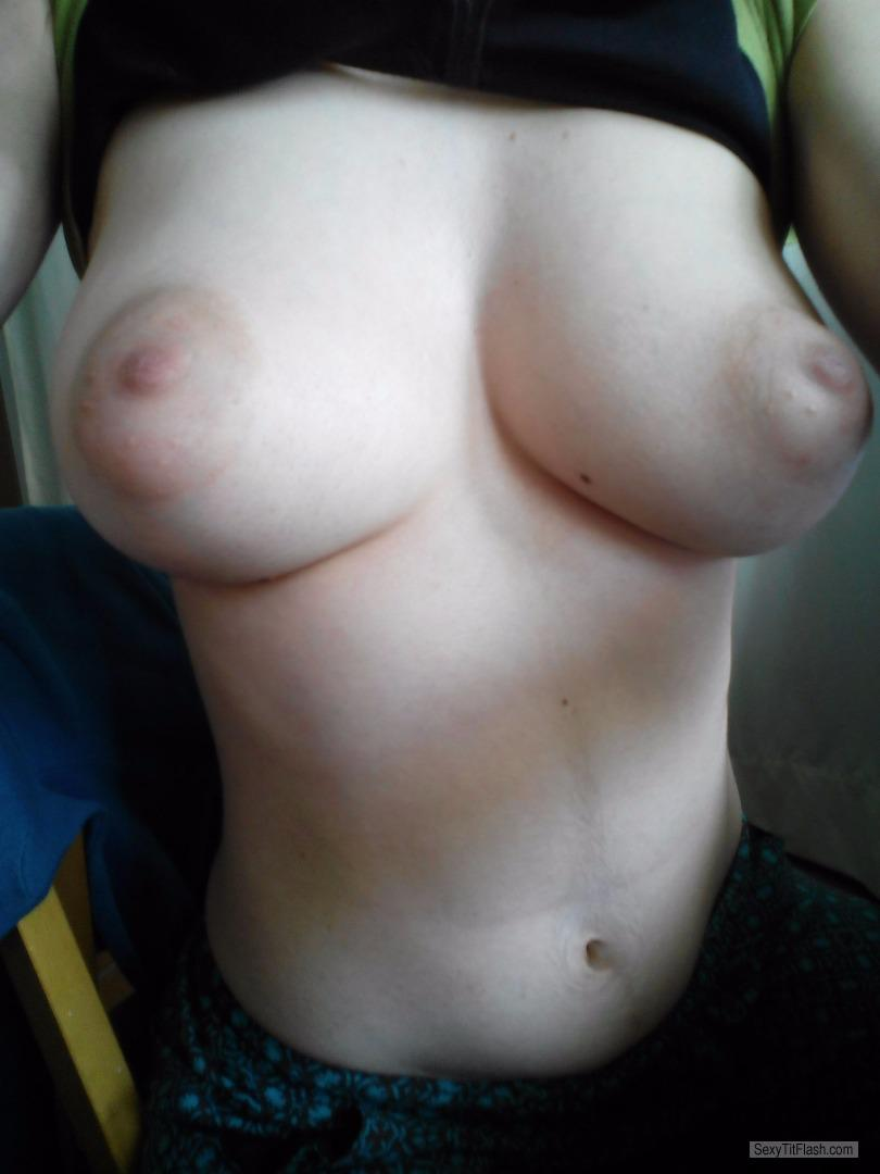 Tit Flash: My Very Big Tits (Selfie) - Topless Hotsammy from United Kingdom