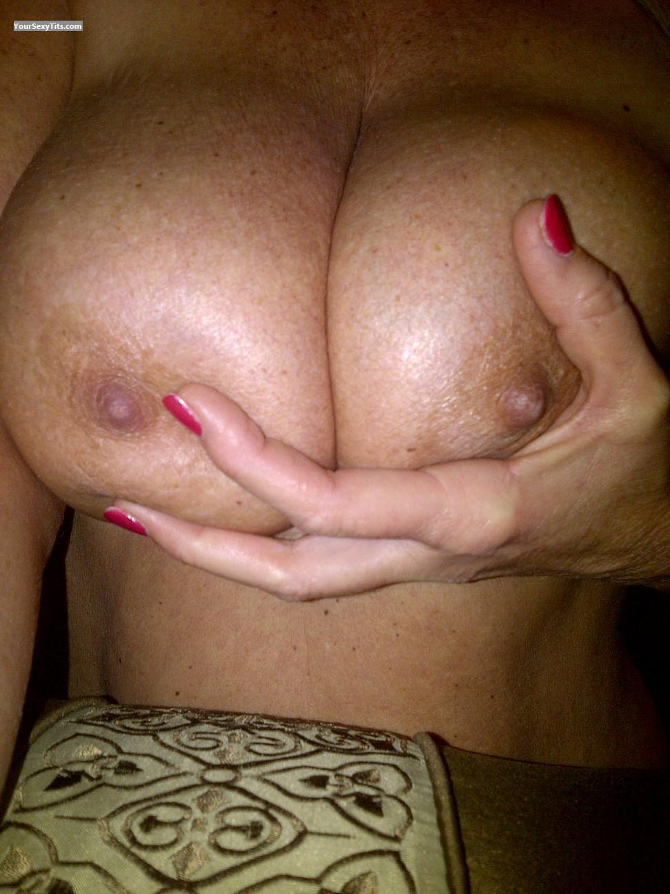 Tit Flash: My Very Big Tits (Selfie) - Guess Who??? from United States