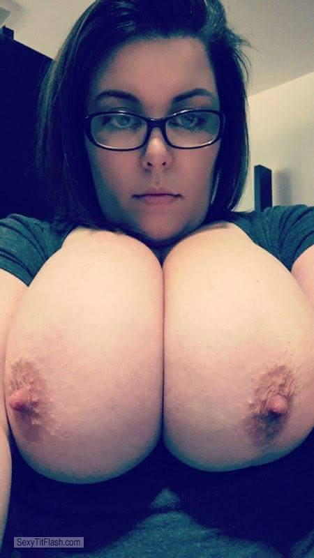 Tit Flash: My Very Big Tits - Topless Biggest Titties from United States