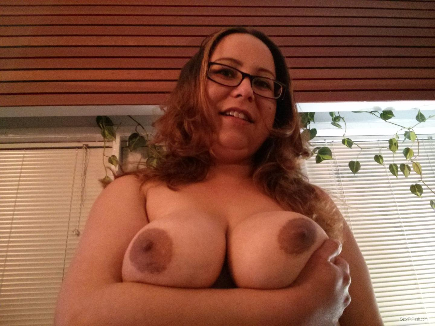Tit Flash: Ex-Girlfriend's Big Tits - Topless Jackie's Titties from Canada