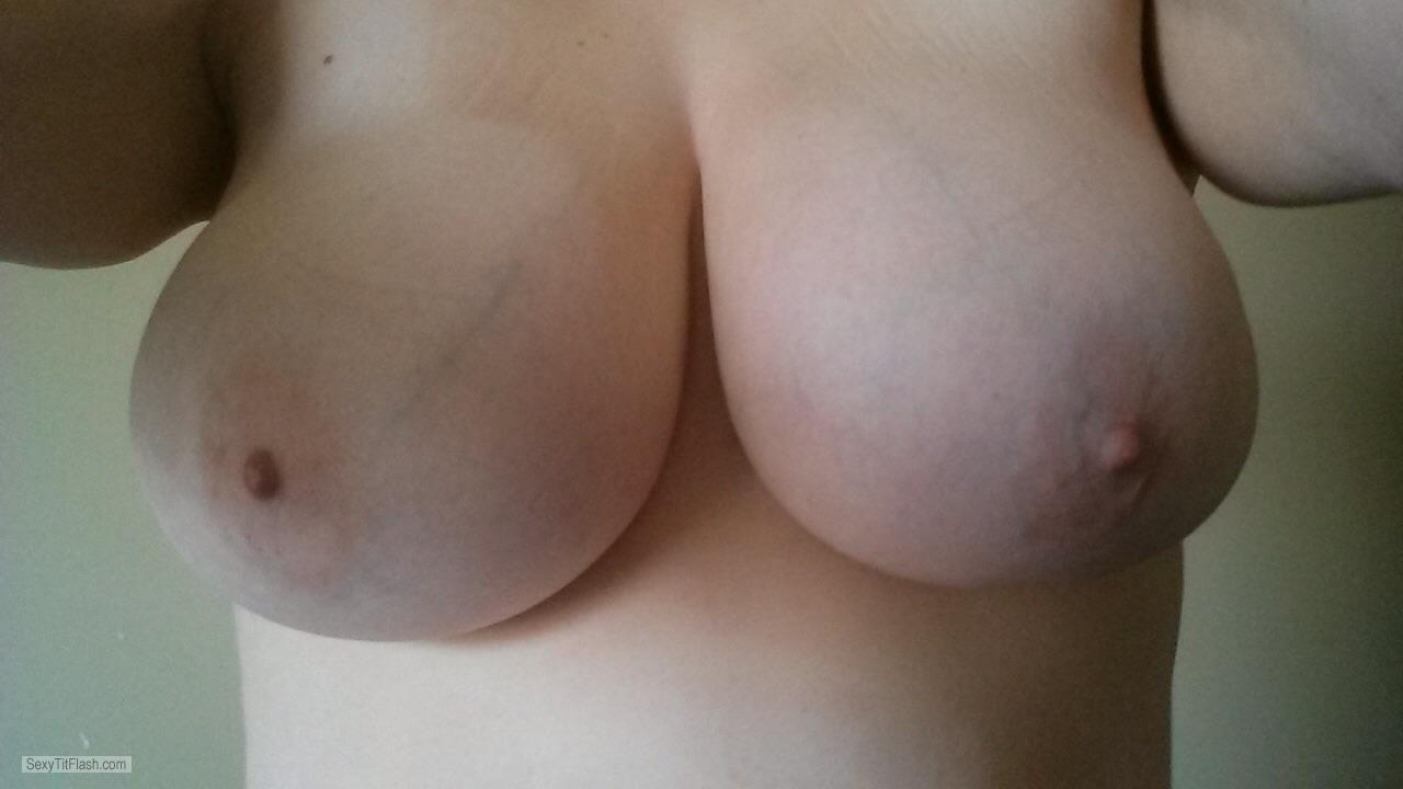 Very big Tits Of My Wife Selfie by Big Boob Horny Wife