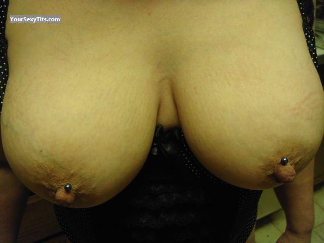 Tit Flash: Very Big Tits - L from United StatesPierced Nipples