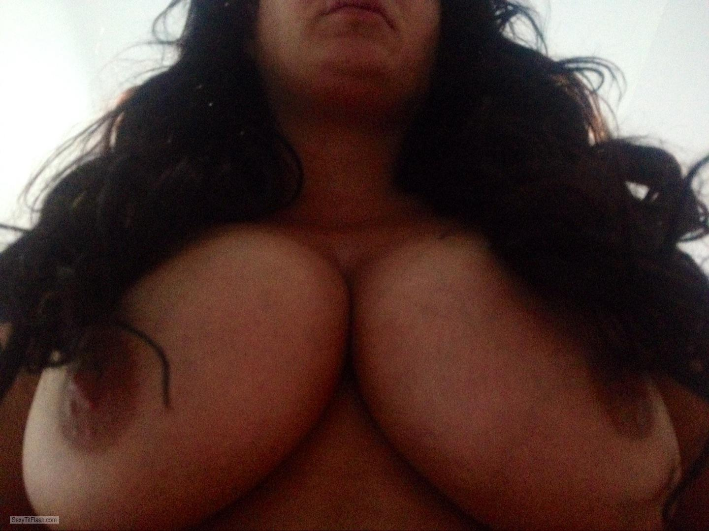 Tit Flash: My Very Big Tits (Selfie) - Sexy Wife from United Kingdom