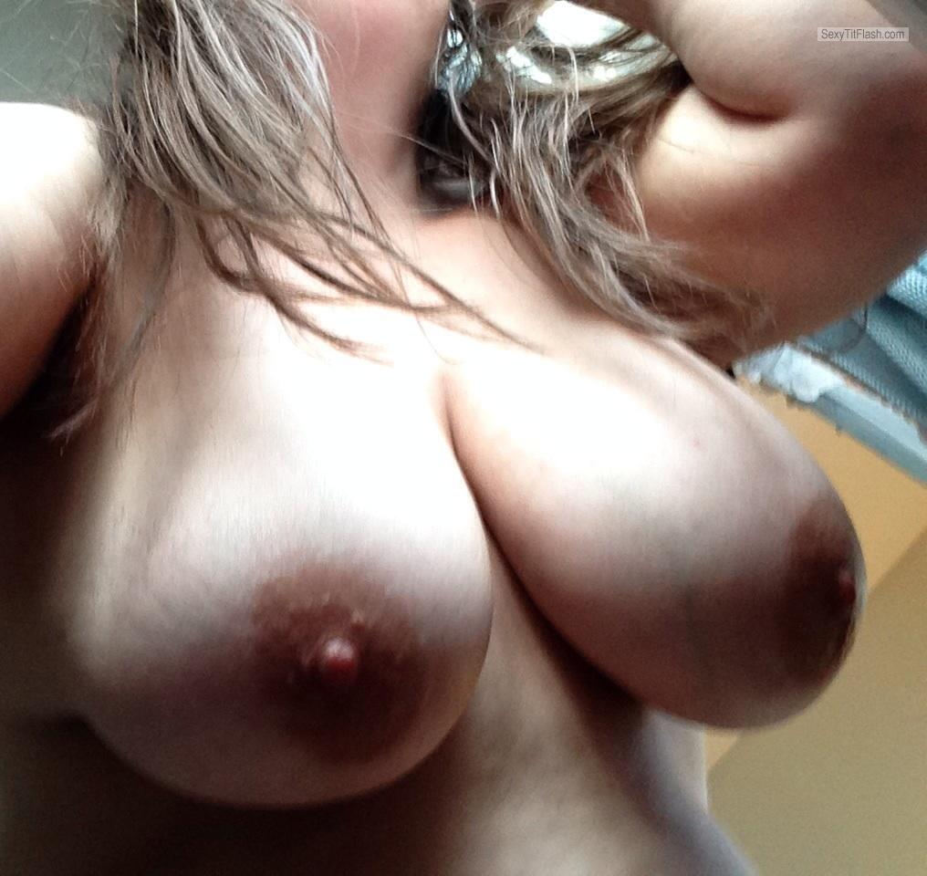 Tit Flash: My Very Big Tits (Selfie) - Rach from United States