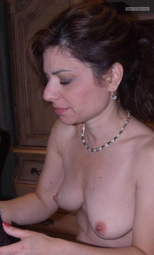 Tit Flash: My Very Small Tits - Topless Plain Jane from United States