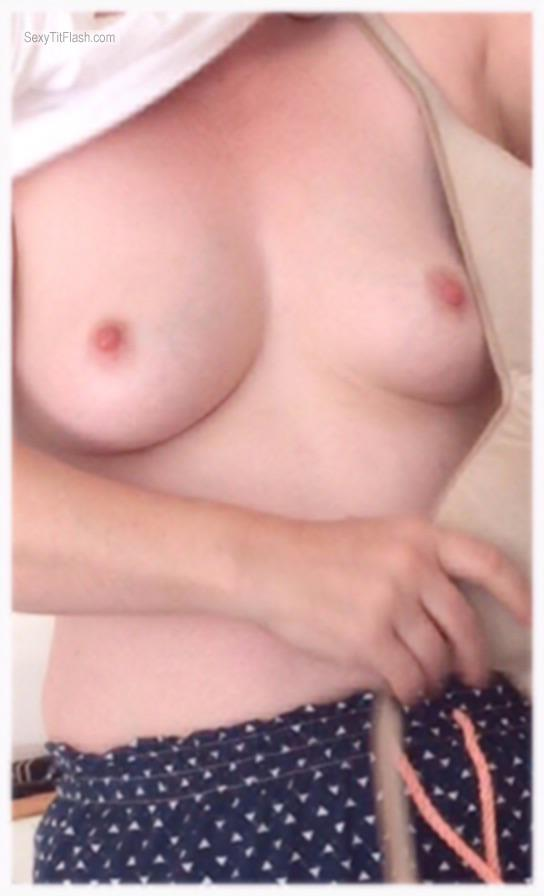 Tit Flash: Wife's Very Small Tits - Orac from Australia