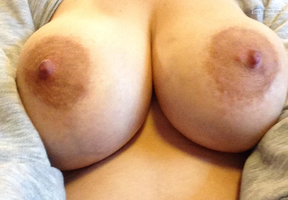 Tit Flash: My Big Tits (Selfie) - Mystery from United Kingdom