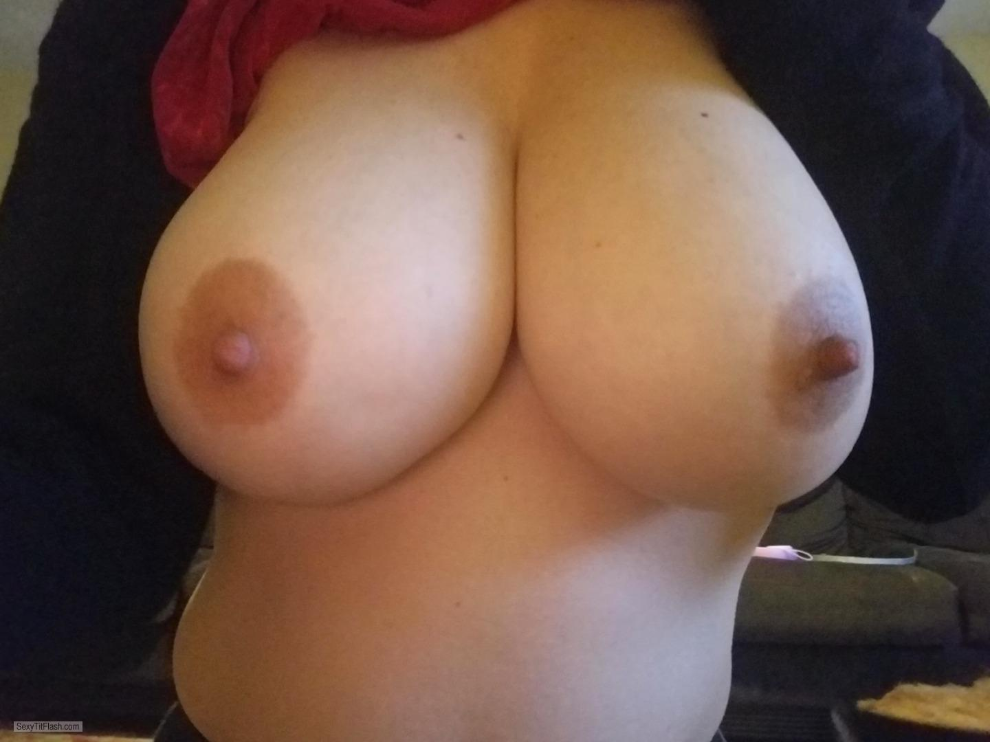 Tit Flash: My Very Small Tits (Selfie) - Horny Slut from United Kingdom