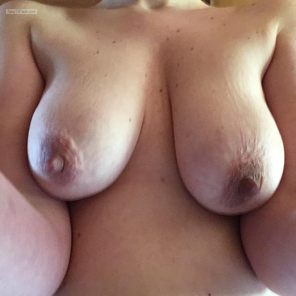 Tit Flash: My Very Small Tits - Topless Sina60 from United Kingdom