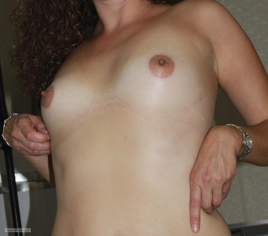 Tit Flash: Ex-Wife's Very Small Tits - Cali from United States