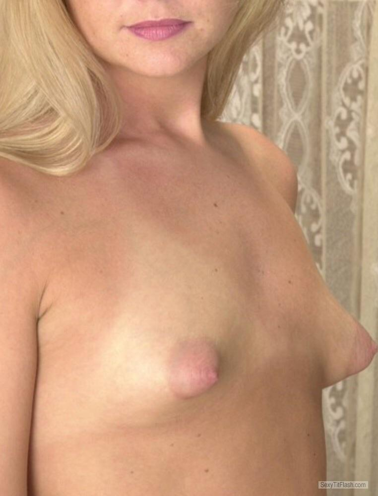 Tit Flash: Candid Woman's's Very Small Tits (Selfie) - Boob from United Kingdom