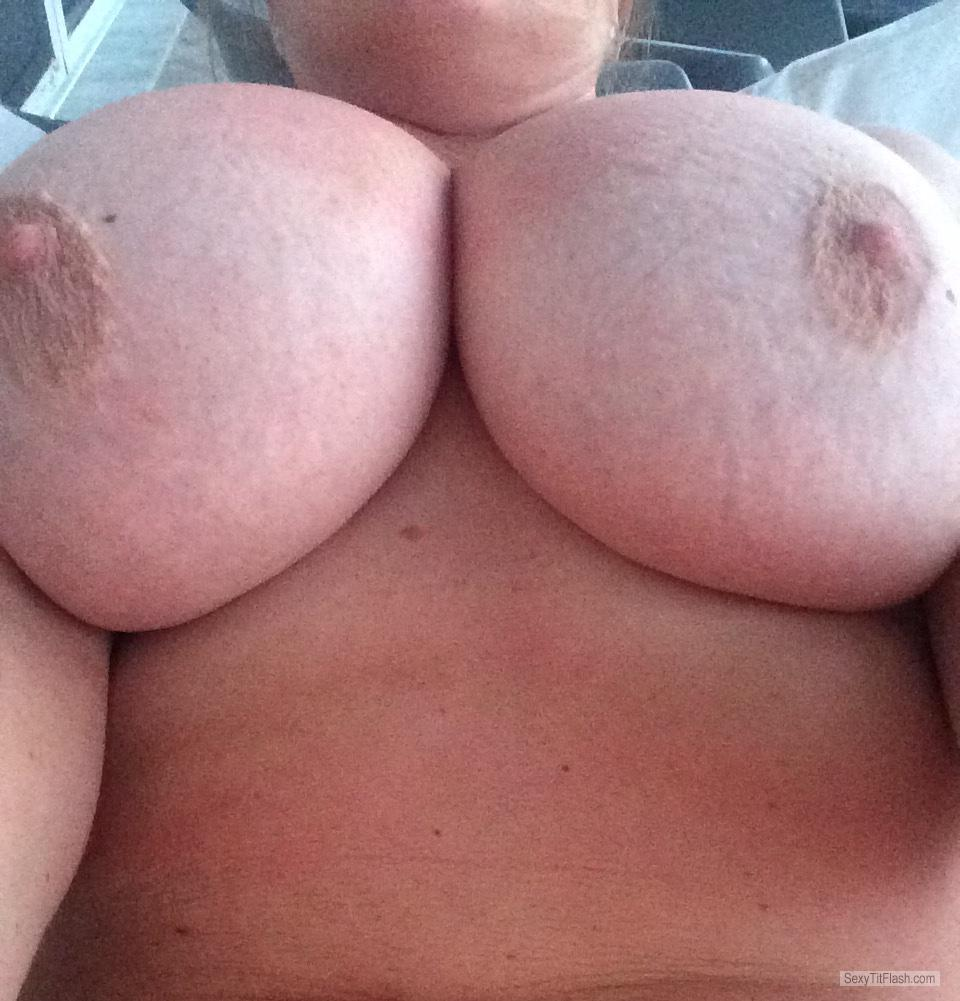 Tit Flash: My Tanlined Very Small Tits - 32GG from Belize
