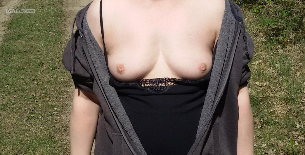 Very small Tits Of My Girlfriend Flashing Amateur