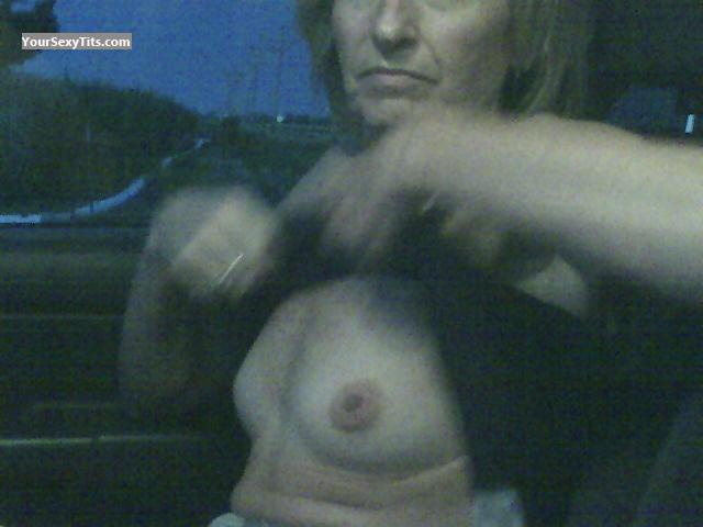 Tit Flash: Very Small Tits - Lisa Lou from United States