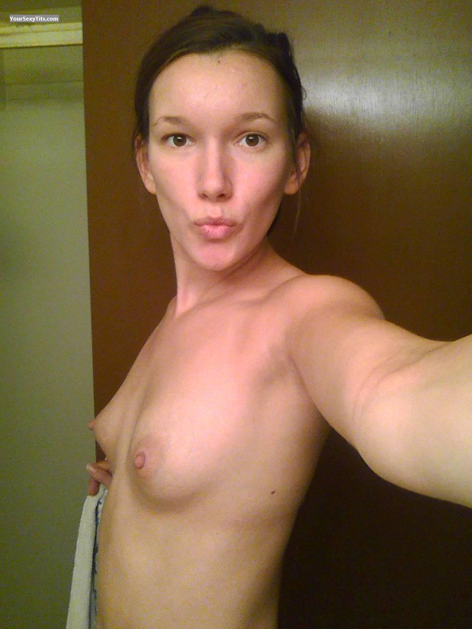 My Very small Tits Topless Selfie by College Girl