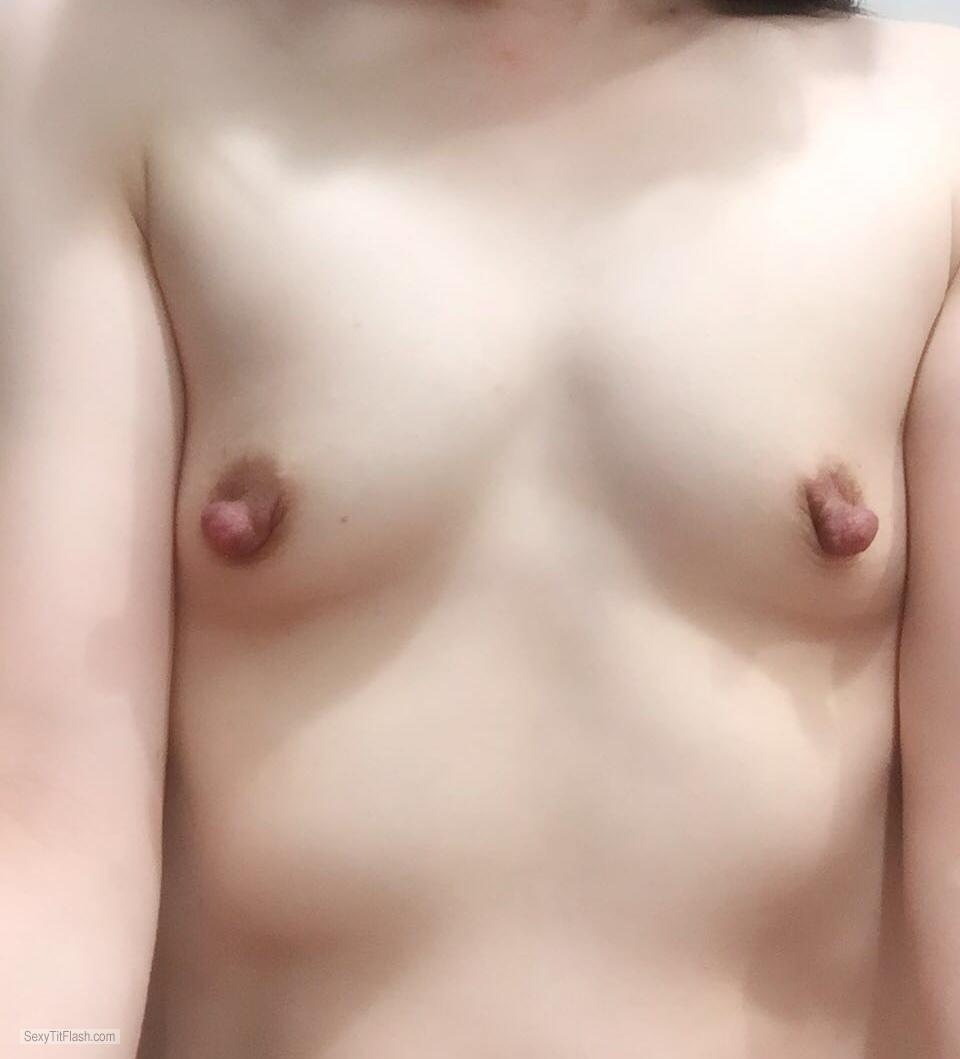 Tit Flash: Wife's Very Small Tits - Cora from United Kingdom