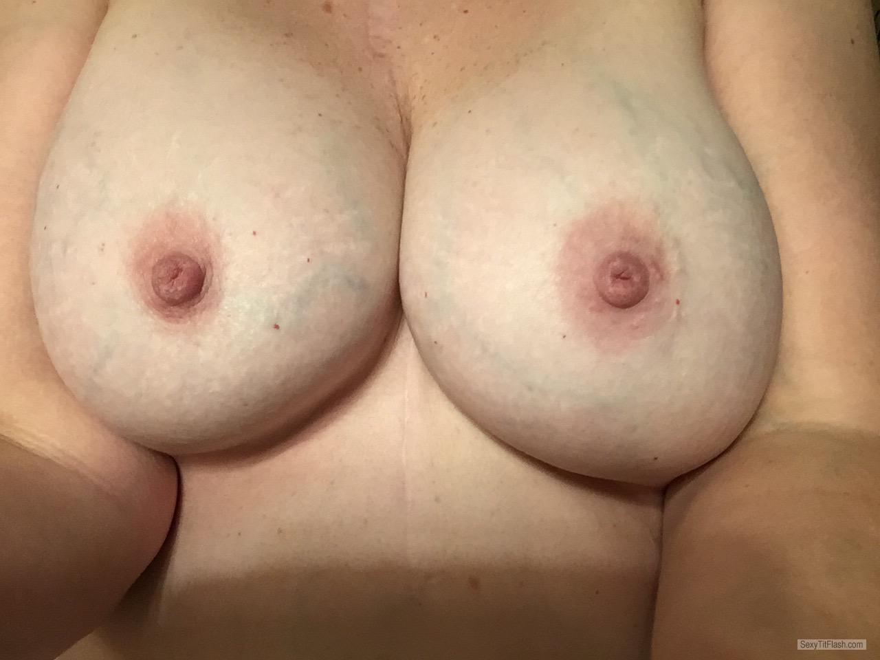 Tit Flash: My Tanlined Very Small Tits (Selfie) - Bogtits from United States
