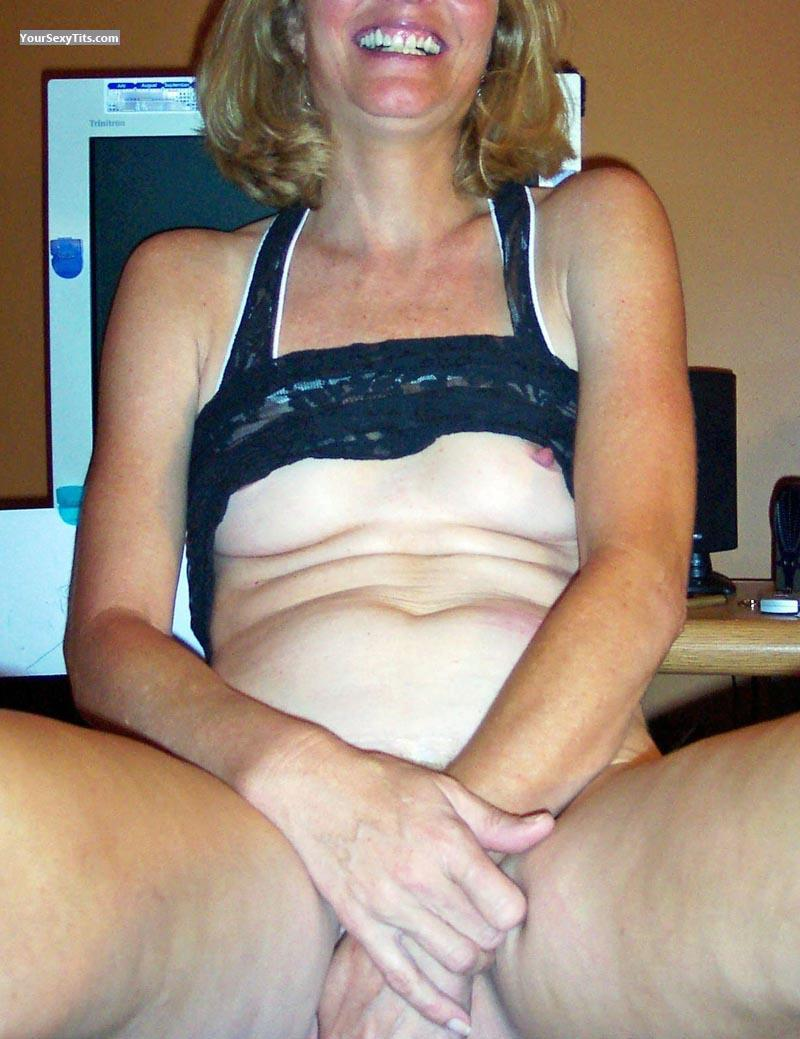 Tit Flash: Very Small Tits - Tall Blonde from United States