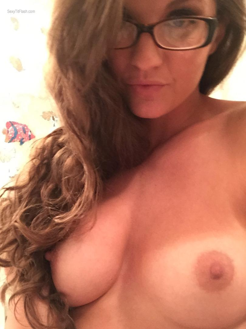 Tit Flash: My Very Small Tits (Selfie) - Topless Tims Girl from Peru