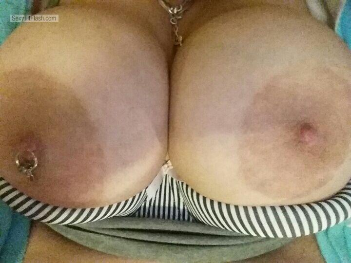 Tit Flash: My Big Tits (Selfie) - MissMetallicaXx from AustraliaPierced Nipples