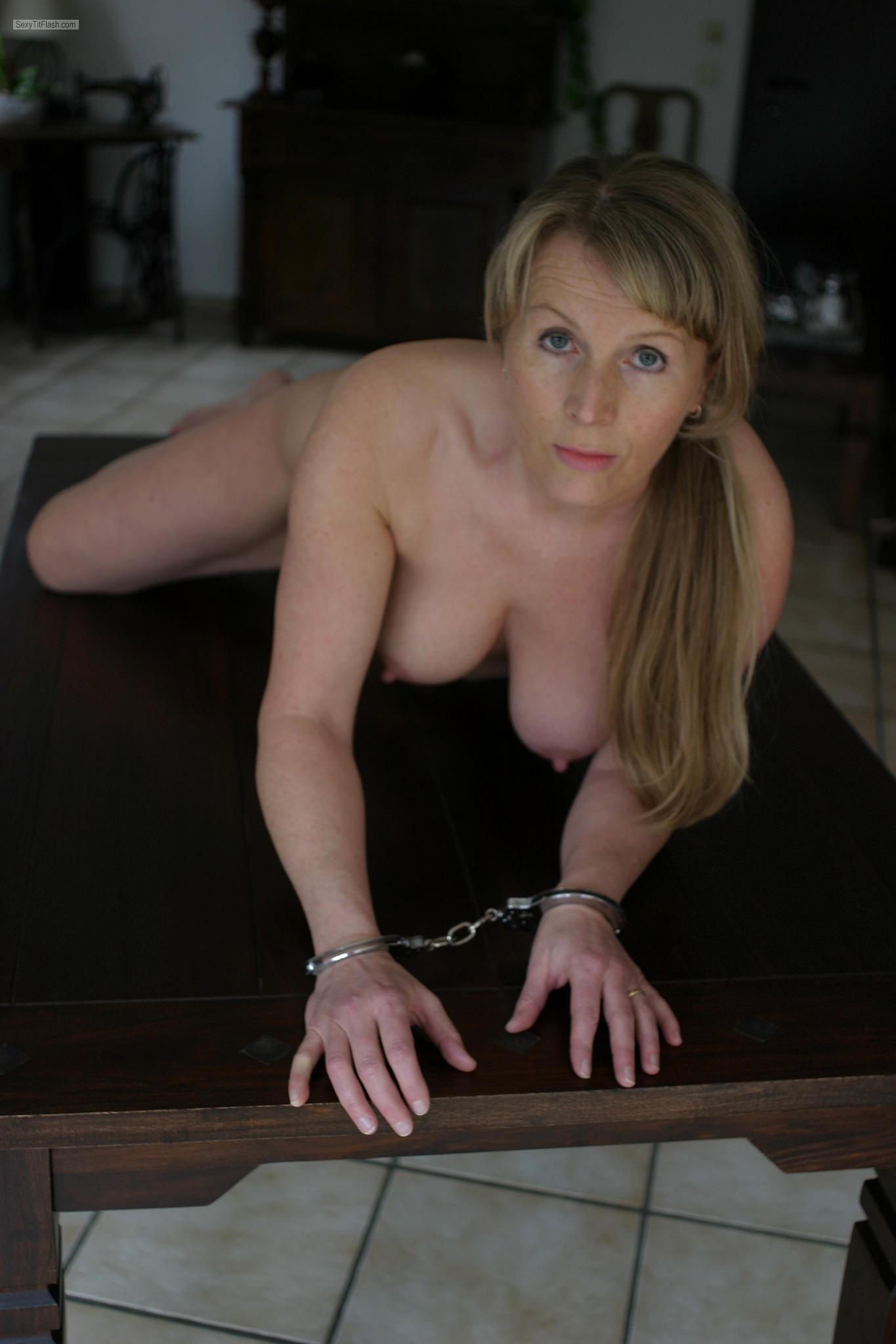 Very small Tits Of A Friend Topless Eva K. Handcuffed