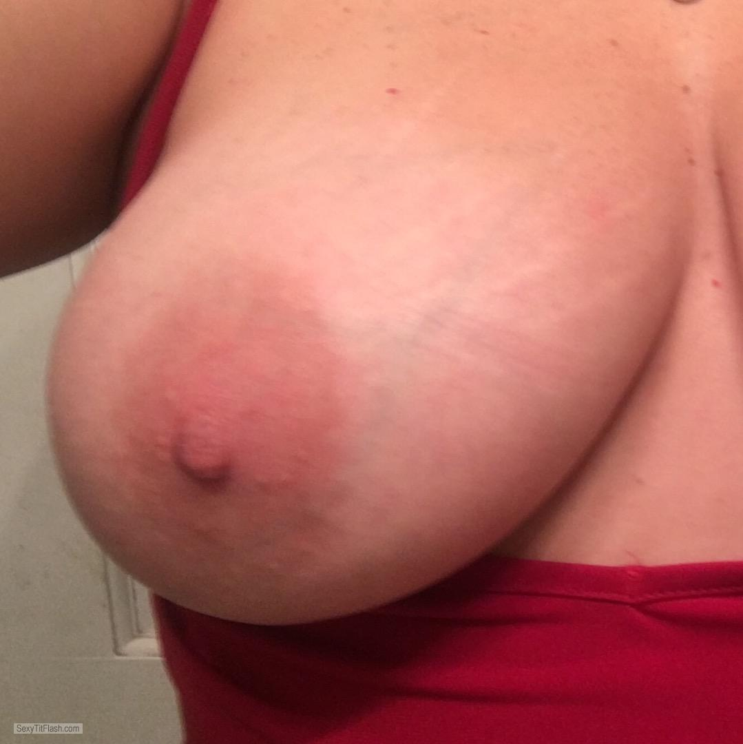 Tit Flash: My Very Small Tits - Topless Shannon from United States