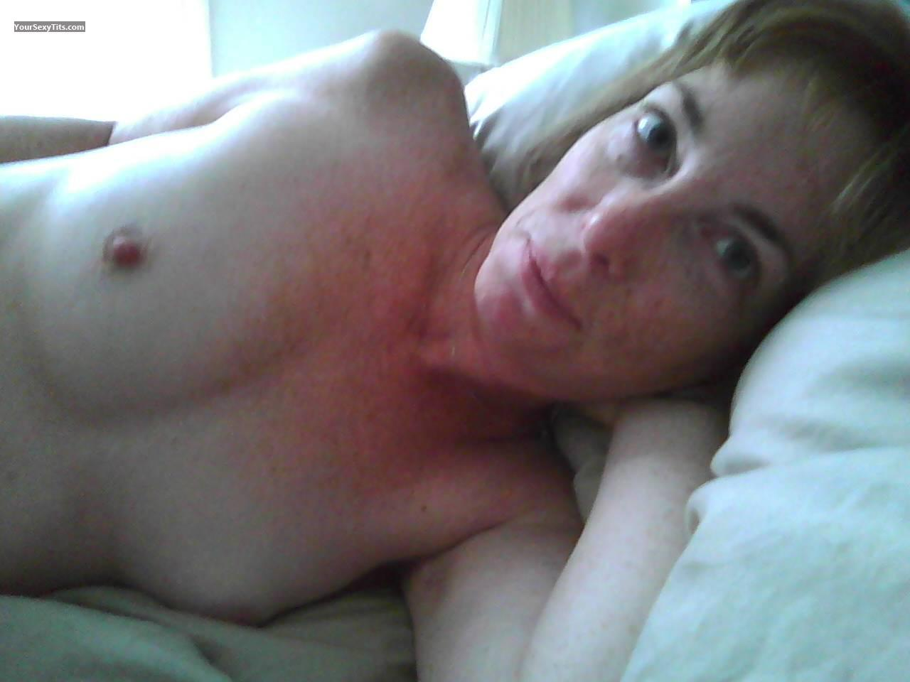 Tit Flash: Very Small Tits - Topless Addie from United States