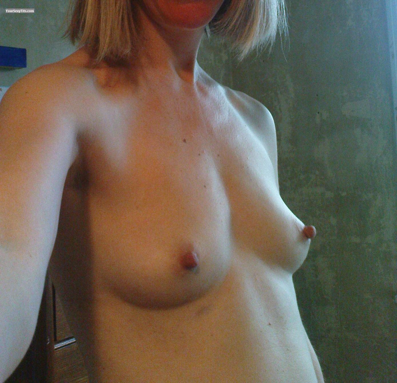 My Very Small Tits Selfie Lovely Little Pert Breast From United