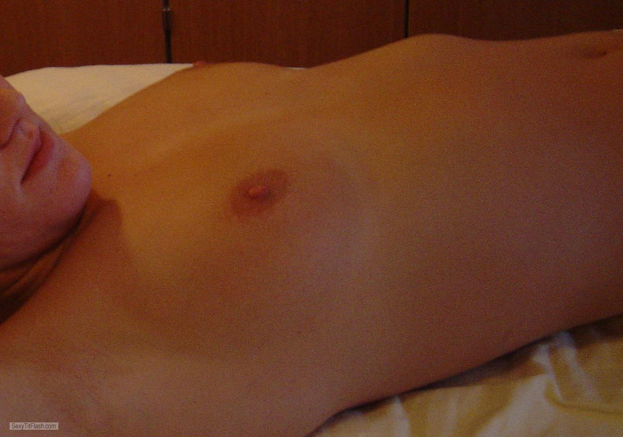 Tit Flash: Wife's Very Small Tits - Maria from Austria