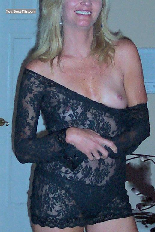 Tit Flash: Very Small Tits - Blonde Belle from United States