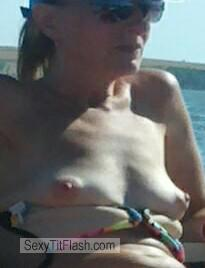 Tit Flash: My Tanlined Very Small Tits - Topless Lisa Lou from United Kingdom