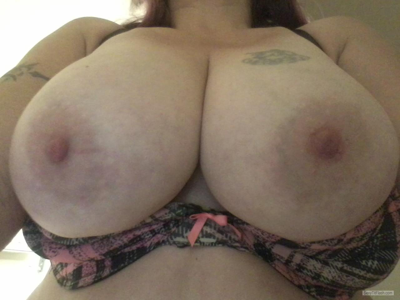 Tit Flash: My Very Small Tits (Selfie) - U Like? from United States