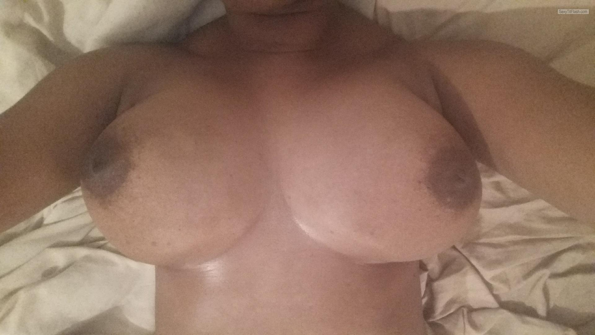 Tit Flash: My Very Small Tits - Topless Big Boobs from United Kingdom