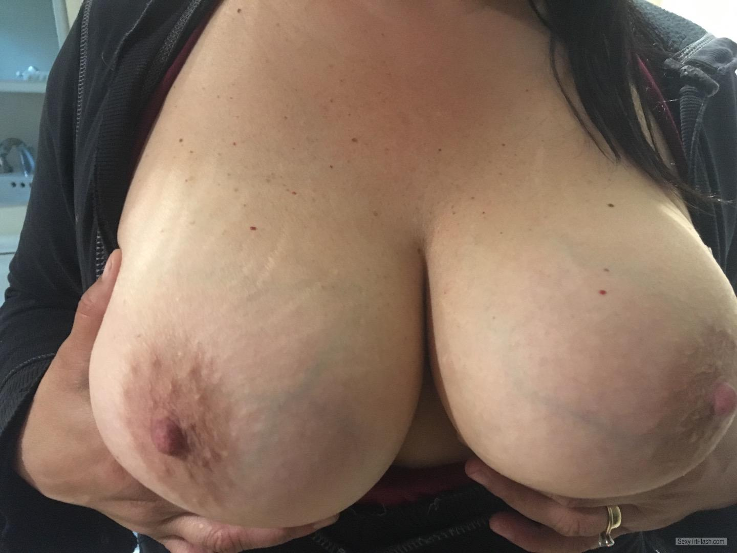 Tit Flash: My Very Small Tits - Topless Shan from United States