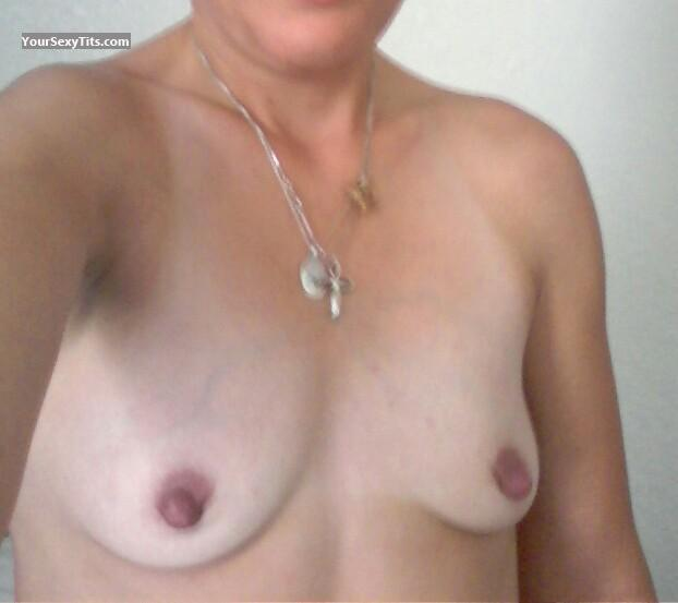 Tit Flash: My Very Small Tits (Selfie) - Tabicat from United States
