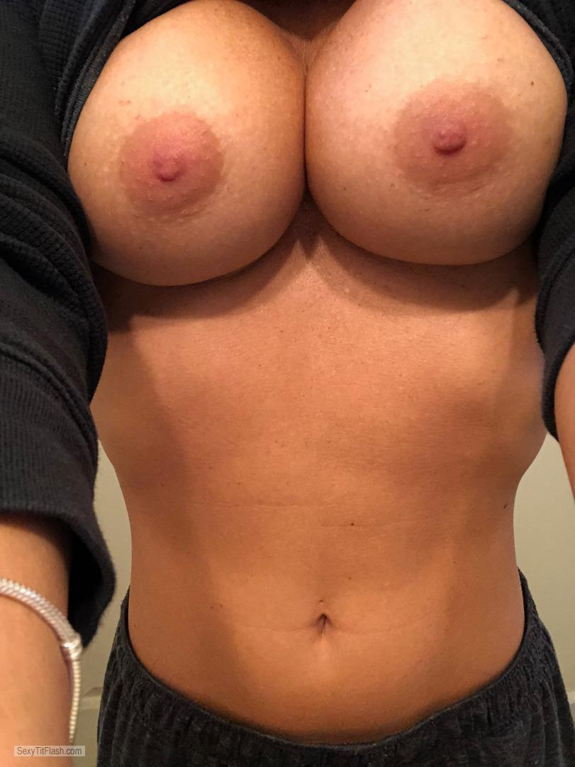 Tit Flash: My Very Small Tits - Topless Pants from United Kingdom